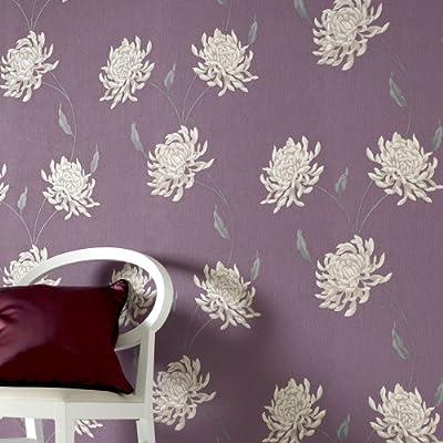 Eve Floral Trail Wallpaper Purple