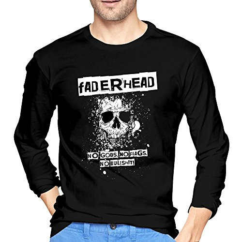 Men's Faderhead No Gods, No Flags, No Bullshit T-Shirts Black