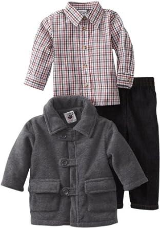 Good Lad Baby-Boys Infant Fleece Pant Set, Gray, 12