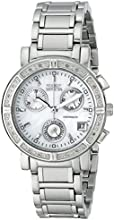 Invicta Wildflower Women's Quartz Watch with Mother Of Pearl Dial  Chronograph display on Silver Stainless Steel Bracelet 4718