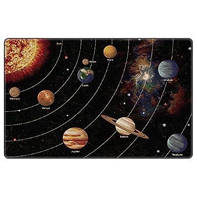 """Flagship Carpet Children Learning Floor Playmat Nylon Solar System Orbit (Tranquility) - 5'10"""""""" x 8'4"""""""" Toys Christmas Gift"""