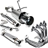 51FxEJHGlcL. SL160  Honda Civic Ex Dx Lx Exhuast Catback System, Header, Test Pipe