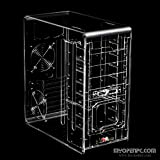 MYOPENPC CRYSTAL Knight: Acrylic Transparent Clear Mid Tower Computer Case for ATX, mATX, ITX motherboards and ATX PSUs - PC components are not included