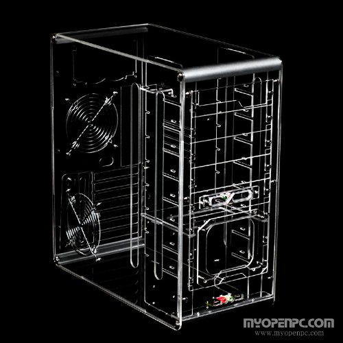 Crystal knight acrylic transparent clear mid tower computer case