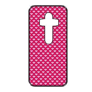 Vibhar printed case back cover for LG G3 PinkRedHeart