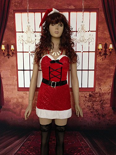 RBFC103 Fever Sequin Santa Dress Hot Sale Sexy Christmas Costumes Sexy Fancy Costumes