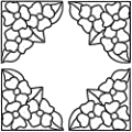 Brewster 99770 Peel & Stick Pansy Stained Glass Corner Appliqués, Clear, 4-Count