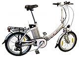 xGerman Elektro-Faltrad 20 Zoll eTurbo COMFORT 7G Shimano LCD
