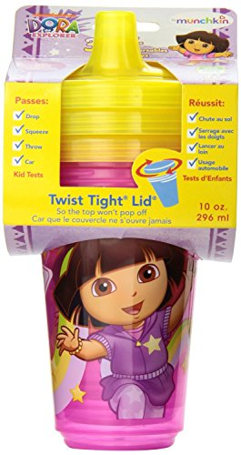 Munchkin Dora the Explorer 10oz Re-usable Twist Tight Sippy Cups - 3pk - 1