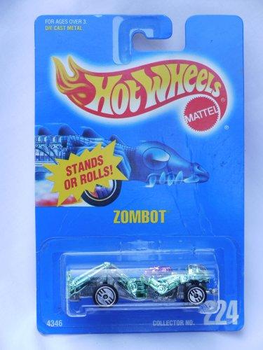 Rare Hot Wheel Zombot #224 - Green and Pink Metallic - 1991 - 1