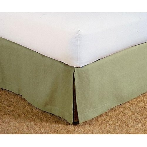 Green Linen Bed Skirt By Charles P. Rogers - King Bed Skirt front-59532