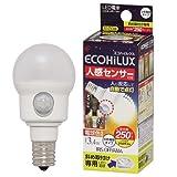 アイリスオーヤマ  LED電球 人感センサー付 小形電球 斜め取付タイプ 電球色相当 LDA3LHE17SH