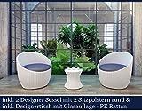 Polyrattan-Gartenmbel-Set-Poly-Rattan-Garten-Mbel-Gartengarnitur-Sitzgruppe-Wei