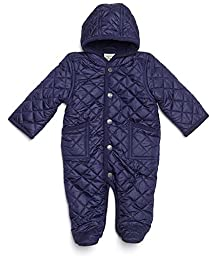 Leveret Quilted Baby Snowsuit (9 Months, Navy)