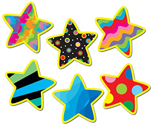Creative Teaching Press 1-Inch Mini Designer Cut-Outs, Poppin