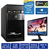 "Desktop Computer - Intel Core I5 660 Processor With Max Turbo 3.60 GHz / Samsung 18.5"" IPS LED Monitor / 8GB DDR3 Ram / Windows 10 Pro / Wifi / DVD (500 GB HDD, 4GB GT 730 Graphics Card)"