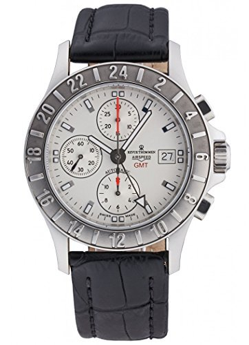 Revue Thommen Airspeed GMT Chronograph Automatic Men's Watch 16091.6535