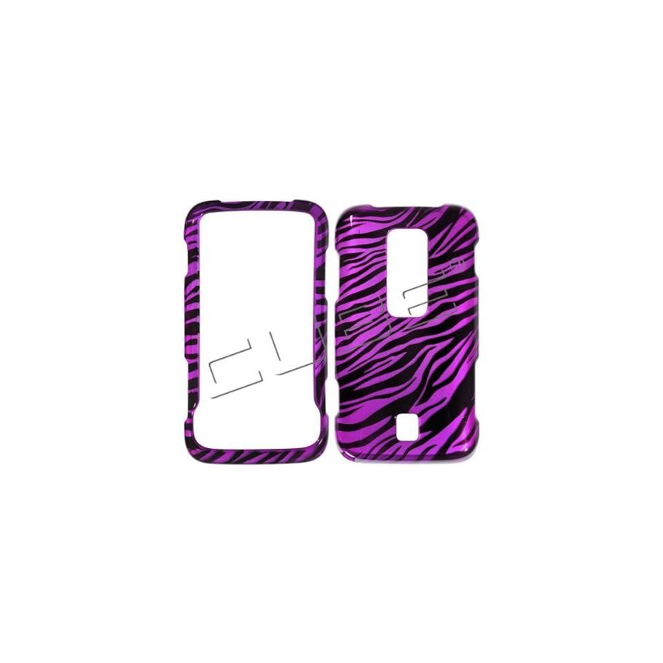 Huawei M860 Ascend  Transparent Black Hot Pink Zebra Skin Design Cover Case Faceplates Front & Back