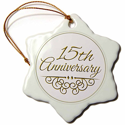 3dRose LLC orn_154457_1 Porcelain Snowflake Ornament, 3-Inch,