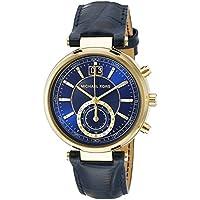 Michael Kors Sayer Amber Blue Leather Ladies Watch