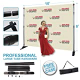 10x8 Professional Large Tube Telescopic Step and Repeat Banner Stand