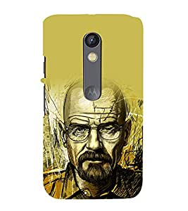 printtech Heisenberg Bad Back Case Cover for  Moto X Pure Edition
