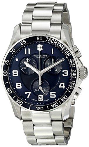 Victorinox Men's 241497 Chrono Classic Analog Display Swiss Quartz Silver Watch