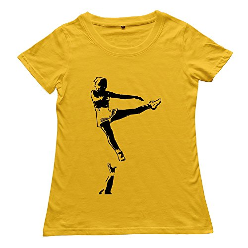 Goldfish Women'S Awesome Brand Cheerleader T-Shirt Yellow Us Size Xxl