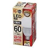 アイリスオーヤマ LED電球 E26口金 60W形相当 電球色 広配光タイプ 密閉形器具対応 LDA8L-G-6T1