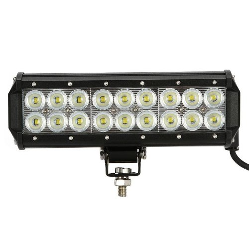 "9"" 54W Cree Led Light Bar 3780Lm~5400Lm Flood Beam 18Pcs 3W Led Chips Ip67 24V 12V 60 Degree Truck Suv Van Camper Wagon Car Pickup Off-Road Driving Work Light Vehicle Front Headlight Fog Lamp Suv"