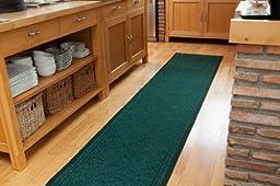 Green Anti Slip Rubber Backed Dirt Trapper Floor Runner Rugs - 2\' 2\