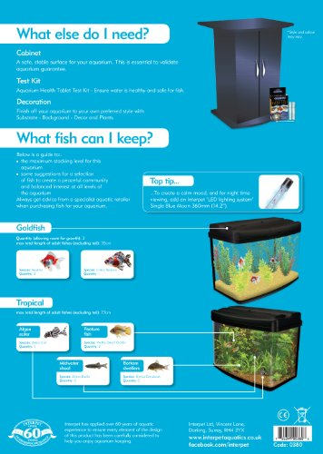 glass aquarium fish tank 64 l complete starter kit set interpet ama0380 pod ebay. Black Bedroom Furniture Sets. Home Design Ideas