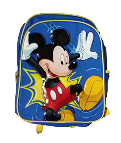 Disney Mickey Mouse Kids School Backpack - 16 inch Blue