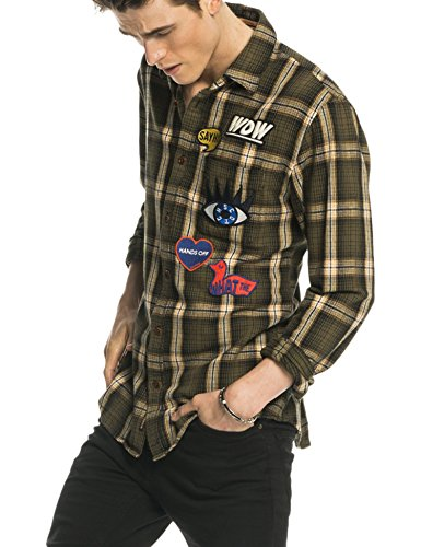 Scotch & Soda Longsleeve Shirt in Cotton Twill Flannel Quality in Multicolour Check Pattern, Camicia Uomo, Mehrfarbig (Combo B 18), Large