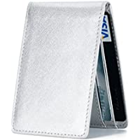 GintaXen Ultra Slim Mini Size Wallet with RFID Blocking (Silver)