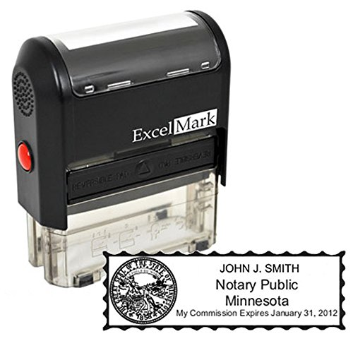 ExcelMark Self Inking Notary Stamp - All 50 States (Notary Stamp And Seal compare prices)