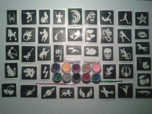100-pochoir-de-tatouage-pour-les-tatouages-paillettes-art-corporel-10-paillettes-couleurs-garcons-fi