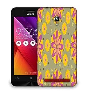 Snoogg Pink Floral Designer Protective Phone Back Case Cover For Asus Zenfone GO