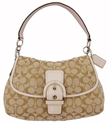 Coach Soho Signature Flap Handbag -Purse Khaki