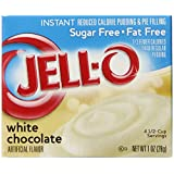Jell-O Sugar-Free Instant Pudding & Pie Filling, White Chocolate, 1-Ounce Boxes (Pack of 24) ~ Jell-O