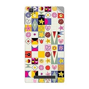 Garmor Designer Mobile Skin Sticker For Vivo X5 - Mobile Sticker