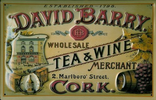 david-barry-tea-wine-targa-latta-metallo-tin-sign-scudo-20-x-30-cm