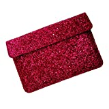 I-KitPit : PU Glitter Sparkling Leather Pouch Case For HTC Flyer 7 (SHINY PINK)