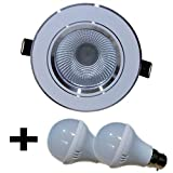 Bene Combo Offer Downlight 3w (1 Pc), Bulb 3w (2 Pcs) Color Of Fixture White::Color Of LED Blue::Color Of LED...