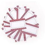 24 aufkleber etiketten sticker landhausstil kariert herz rund 40 mm hellrot rot. Black Bedroom Furniture Sets. Home Design Ideas