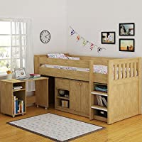 Merlin Study Bunk in Oak Effect Veneer
