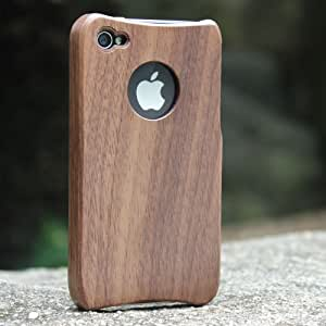 eimo Unique Handmade Natural Wood Wooden Hard bamboo Case Cover for iPhone 4 4s(walnut)