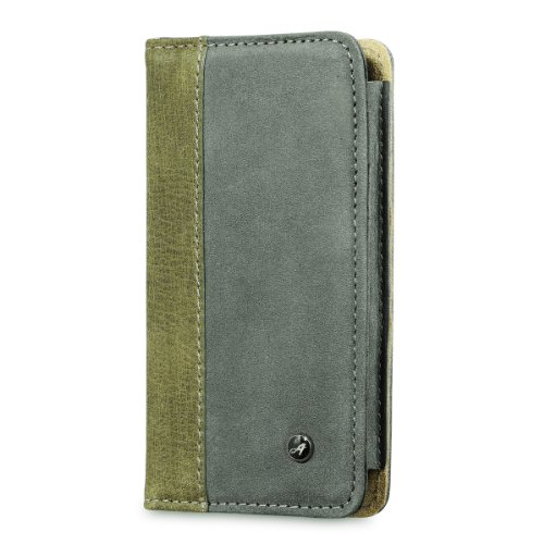 Best Price Acase Genuine Leather iPhone 5s Case / iPhone 5 Case with Card Wallet - Gray