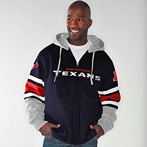 Houston Texans NFL G-III 1 on 1 Jersey Hooded Premium Sweatshirt by G-III Sports