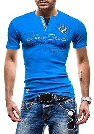BOLF - T-Shirt à manches courtes - COMEOR 2099 - Homme - XL Bleu [3C3]